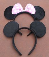 Pale Pink Minnie and Mickey Ears